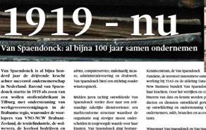 Van Spaendonck: al bijna 100 jaar samen ondernemen
