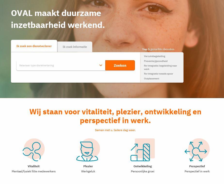 Nieuwe OVAL website