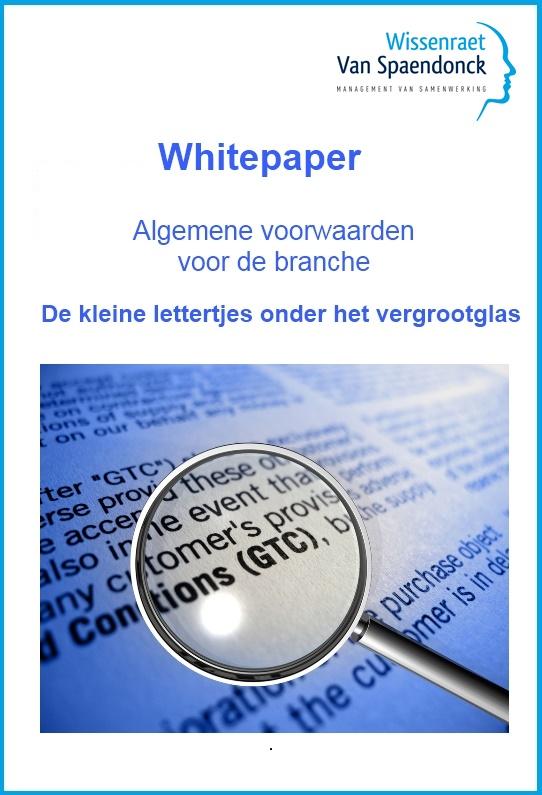 Whitepaper: Algemene voorwaarden voor de branche