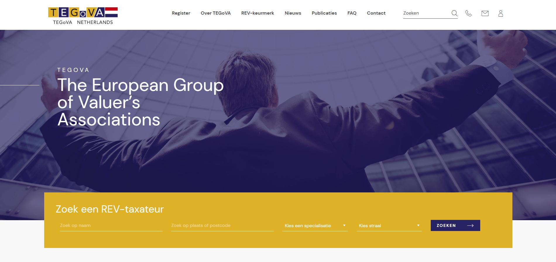 Nieuwe website TEGoVA Netherlands